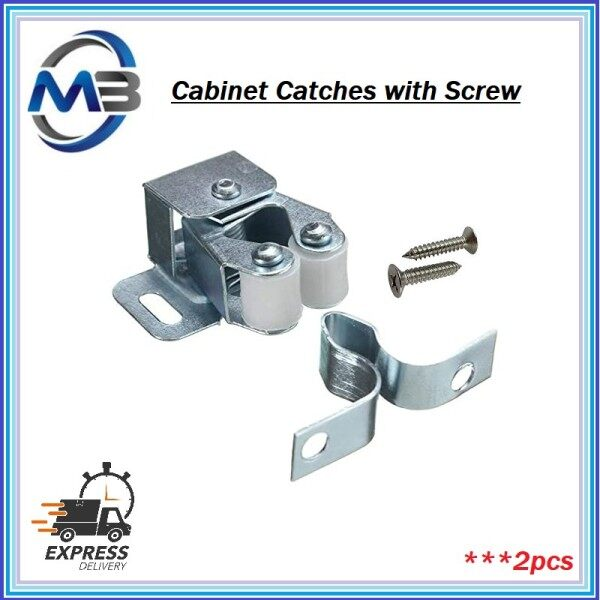 CABINET CATCHES (SPRING & CLIP) WITH SCREWS