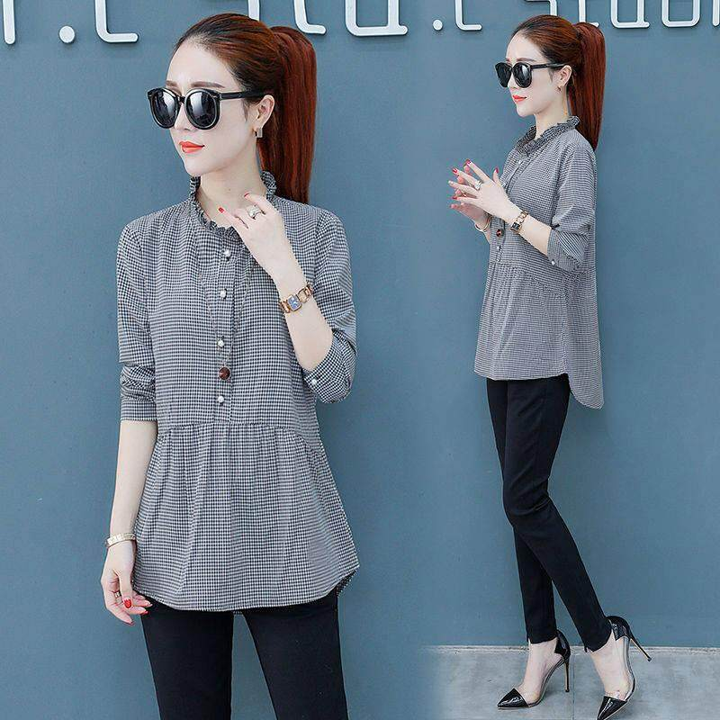 Women's Clothing Hot Sale 2018 Summer New Women Retro Plaid Loose Single-breasted Shirt Be Friendly In Use