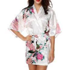 Sunshop Người Lớn Trẻ Em Lụa Satin Kimono Áo Dây Phối Váy Cưới Cô Dâu Đồ Ngủ ANH