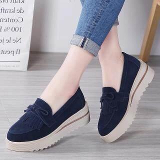 Dosreal Đế Phẳng Giày Da Đáy Dày Da Lộn Nữ Cho Nữ Giày Nữ Size Lớn 35-41 Tăng giày thumbnail