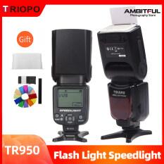 Triopo TR-950 Đèn Flash Speedlite Đèn Tốc Độ Phổ Biến Cho Máy Ảnh 5D Fujifilm Olympus Nikon Canon 650D 550D 450D 1100D 60D 7D