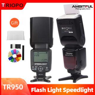 Triopo TR-950 Đèn Flash Speedlite Đèn Tốc Độ Phổ Biến Cho Máy Ảnh 5D Fujifilm Olympus Nikon Canon 650D 550D 450D 1100D 60D 7D thumbnail