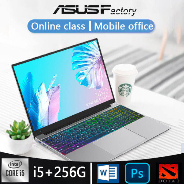 [2-year National Warranty] Notebook Laptop i5 laptop new window 10 15.6 inch 8G RAM 128G 256G SSD ROM Notebook Computer laptop gaming slim for student murah from Asus factory Malaysia