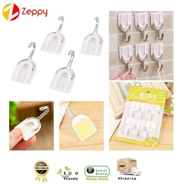 6 PCS Strong Self Adhesive U-Shaped Hooks Wall And Door Sticky Hangers