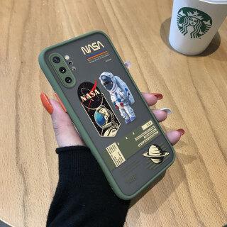 Ốp Honinga Ốp Cho Samsung Galaxy Note 10 Note 10 Plus Giấy Ghi Chú Trong Suốt Mờ Phi Hành Gia NASA Sáng Tạo 10 + Camera Bao Phủ Toàn Bộ Ốp Bảo Vệ Ốp Điện Thoại Ốp Cứng Cho Nam thumbnail