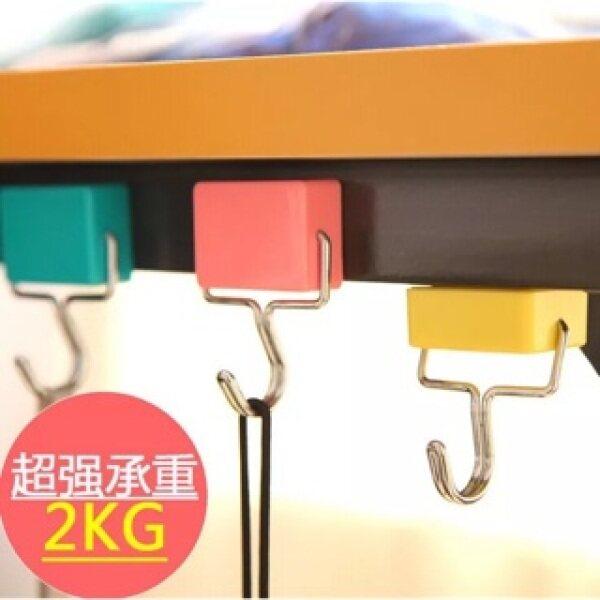 Super Strong Iron Magnetic Seamless Hook Kitchen Refrigerator Powerful Magnet Hook - 魔力磁性挂钩神器 冰箱磁铁无痕粘钩 超强磁力厨房吸铁石