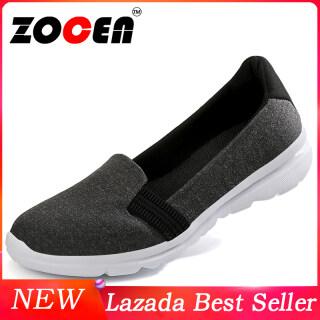 Giày Bệt ZOCEN Lưới Cho Nữ Giày Thể Thao Thoáng Khí Miệng Nông Thường Ngày Bằng Vải Lưới Tròn thumbnail