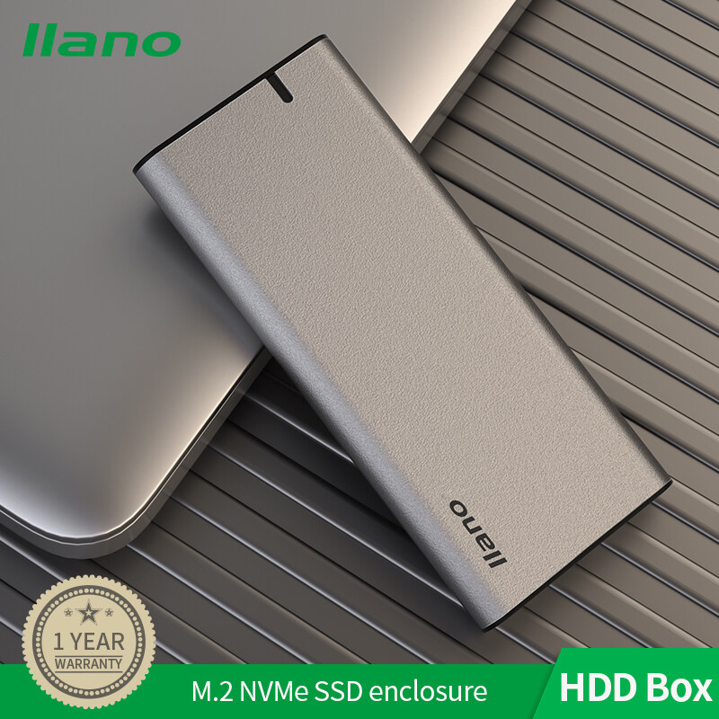Llano 10gbps M.2 Nvme Portable Hard Drive Disk Enclosure Cover Case Usb3.1 High-Speed Ssd Base With 40cm Type-C Data Cable.