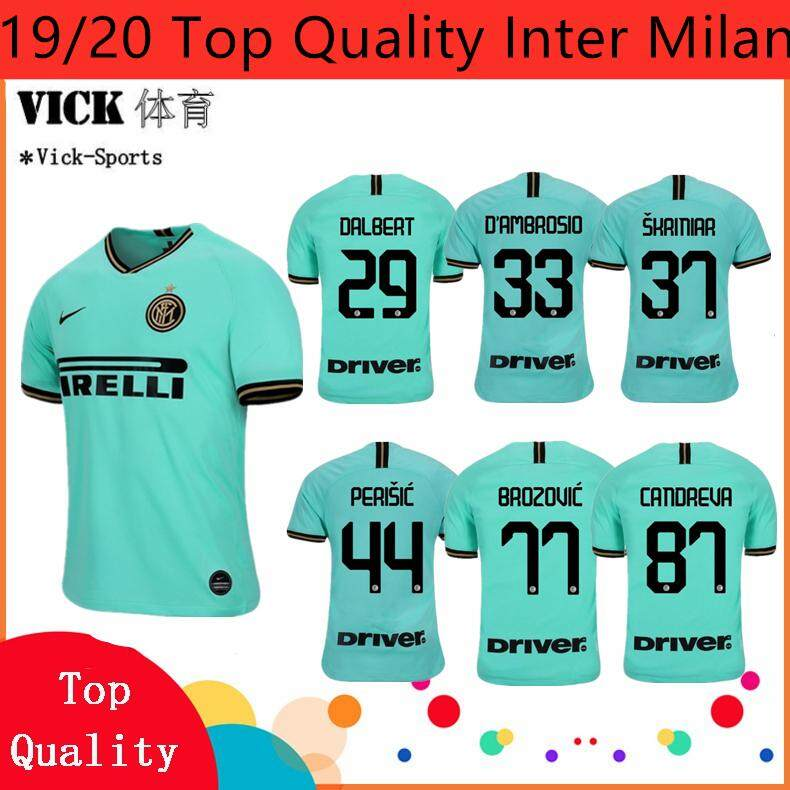 detailed look af45b 41d85 19/20 Top Quality Newest Jersey Inter Milan Perisic Brozovic Miranda  Candreva Home Away 3rd jersi Football Training shirt Wear For Men Adults  Gred ...