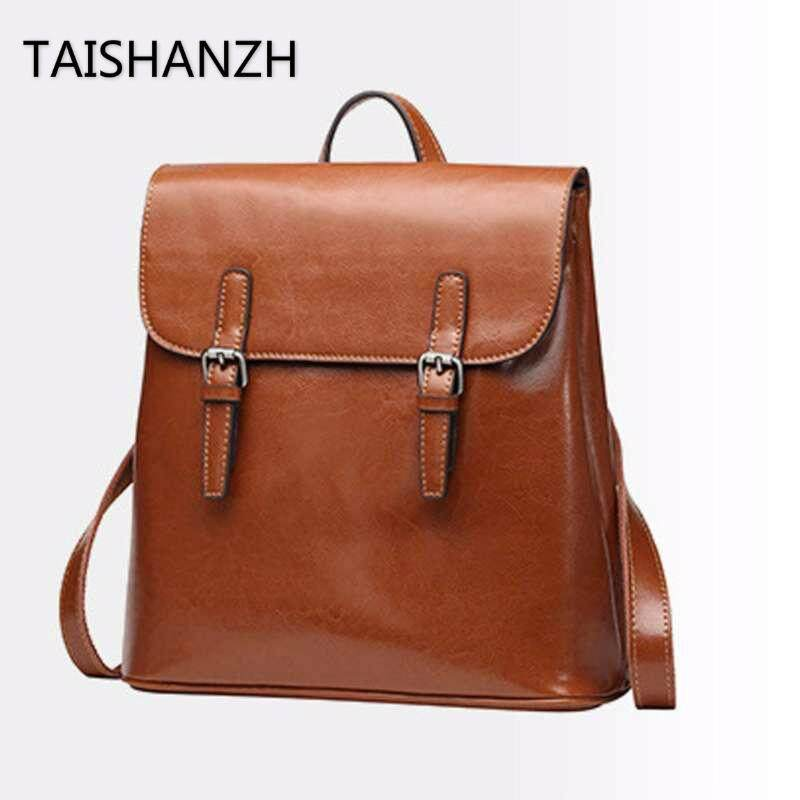 47a45b17fc65c2 Italian 100% Genuine Leather Women Backpacks Shoulder Bags Travel Hoders  (Brown)