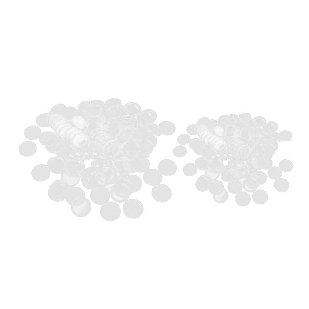 200pcs 30//38mm Plastic Clear Round Coin Capsules Containers Coin Protector