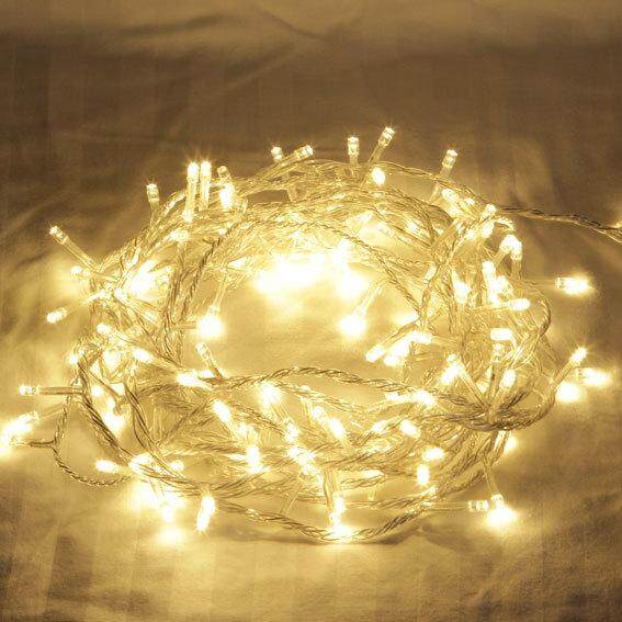 10 Meters 100 Led Warm White Fairy String Lights ,power Point - 8 Modes (starzdeals.my) By Starz Deals Trading.