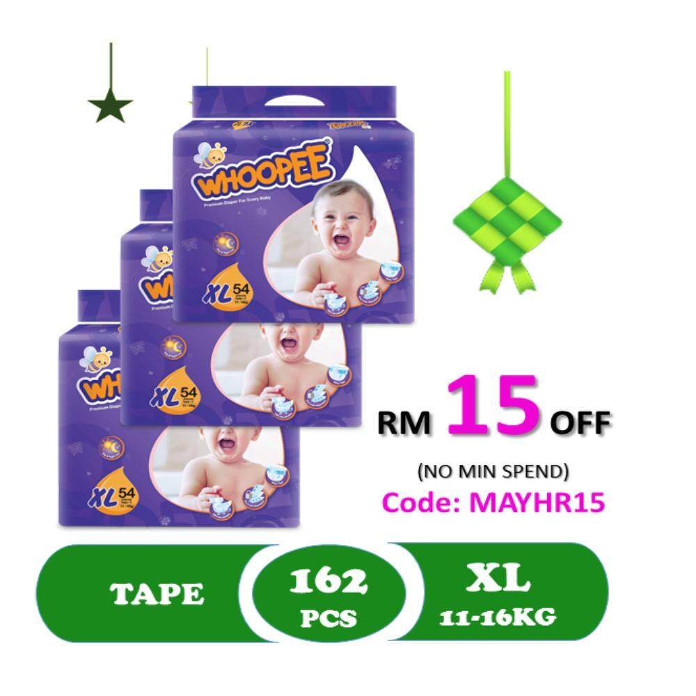 Whoopee Baby Diaper Xl54 X 3 Pkts By Lazada Retail Whoopee.