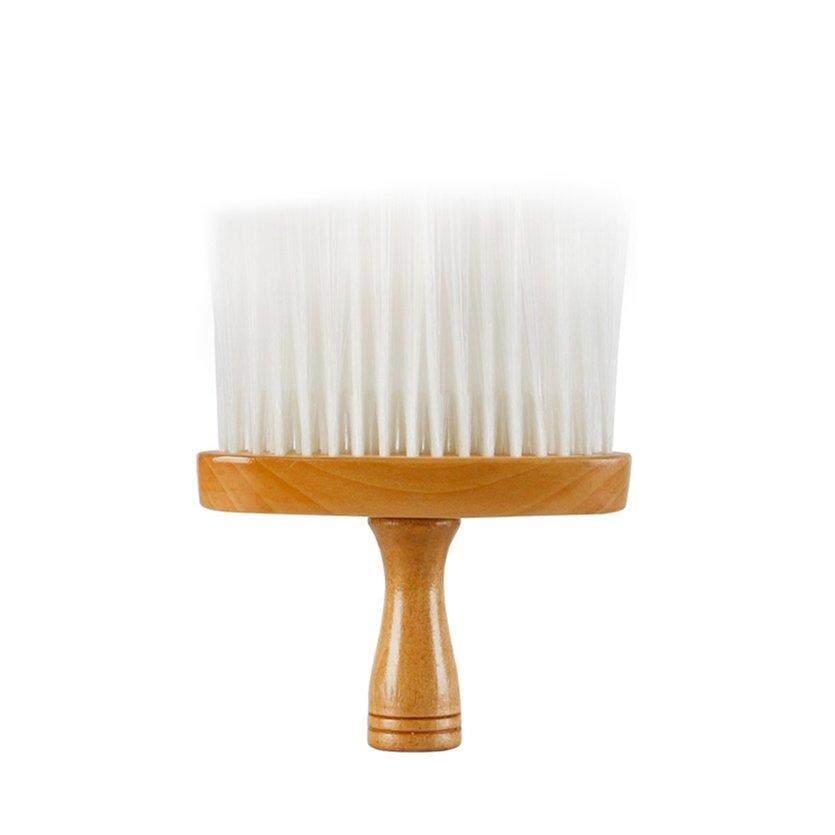 [Ready Stock] 272 Nylon Bristle Men and Woman Hair Cutting Barber Brush Wooden Handle Portable Barber Beard Brushes Salon Cleaning Brush