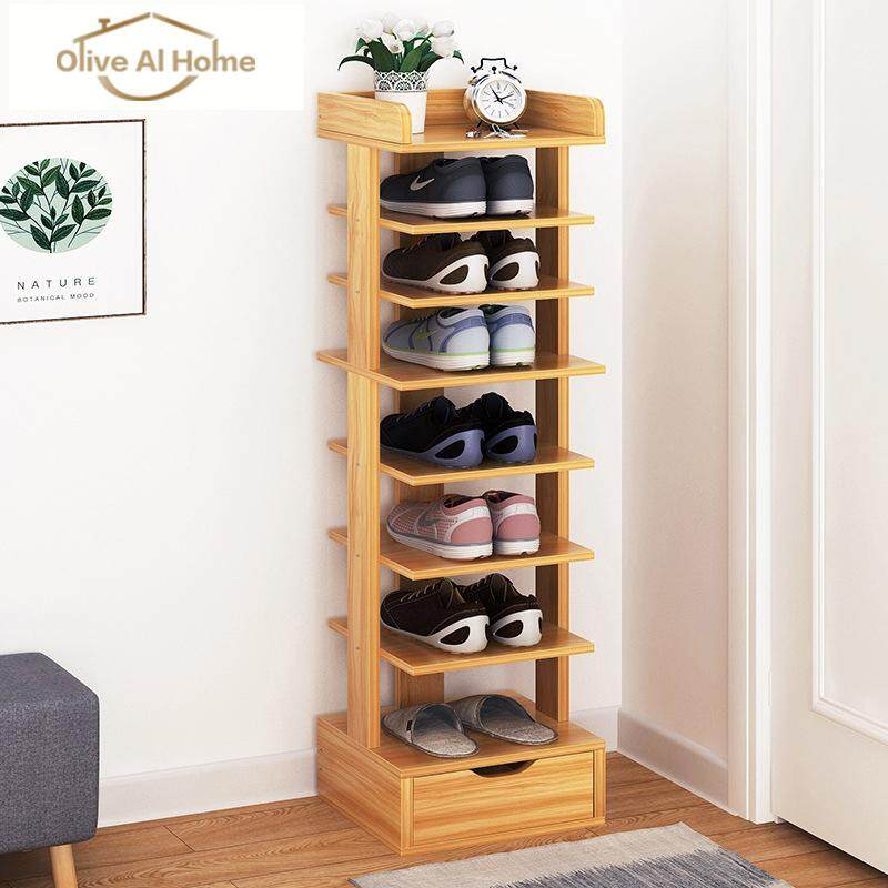 Wooden Shoe Rack 8 Layers Entrance Shoe Rack by Olive Al Home