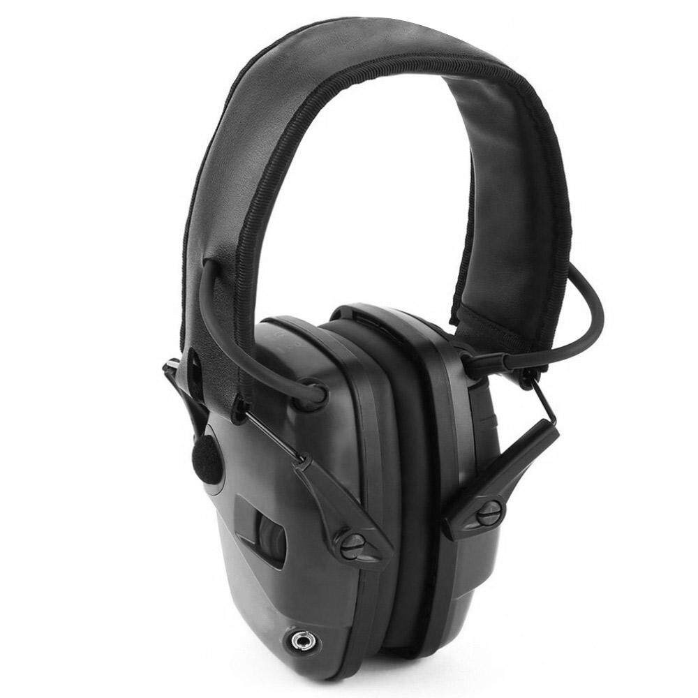 Foldable Shooting Earmuff Adjustable Headband Batteries Microphones Stereo Sound Sport Tactical Army Ear Defenders Military Outdoor Hearing Protection