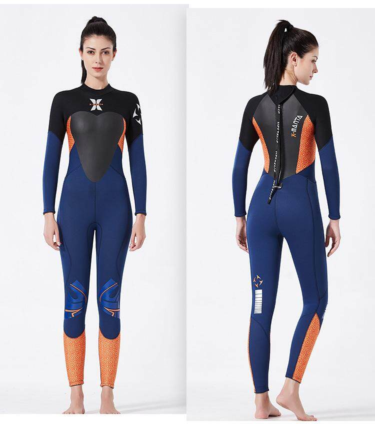 8ff89a09e2 3.5MM Wetsuit Neoprene Spearfishing Scuba Diving Suit Surfing Windsurfing