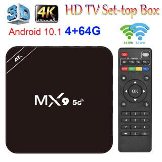 MX9 TV Box 4K Android 10.1 5G Băng Tần Kép 3D Điện Áp Rộng WIFI 4 + 64GB Quad Core thumbnail