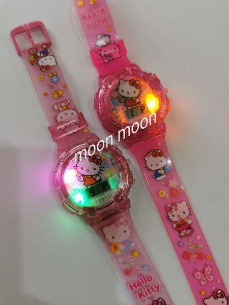 Kids Watches Cartoon with Music Light / Jam Tangan Budak Lampu dan Muzik Hello Kitty Malaysia
