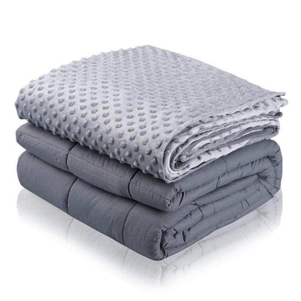High Quality Cotton weight Blanket Glass Beads Environmentally Friendly Ventilation Relieve Stress Autism and Anxiety Disorders for Children and Adults 7/15/20lb 41*60/60*80in