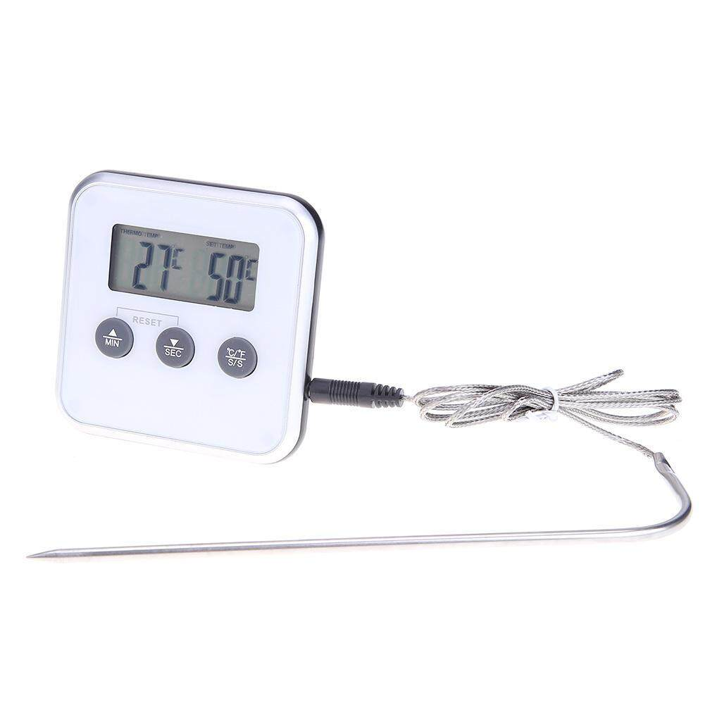 Digital Electronic Thermometer Timer Food Meat Temperature Meter Gauge With Probe By Chinatera Official Store.