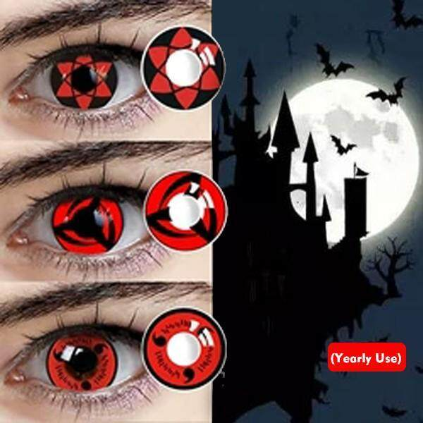 1 Pair Cartoon Naruto Cosplay Eyes Cosmetic Contact Lens Halloween Contacts