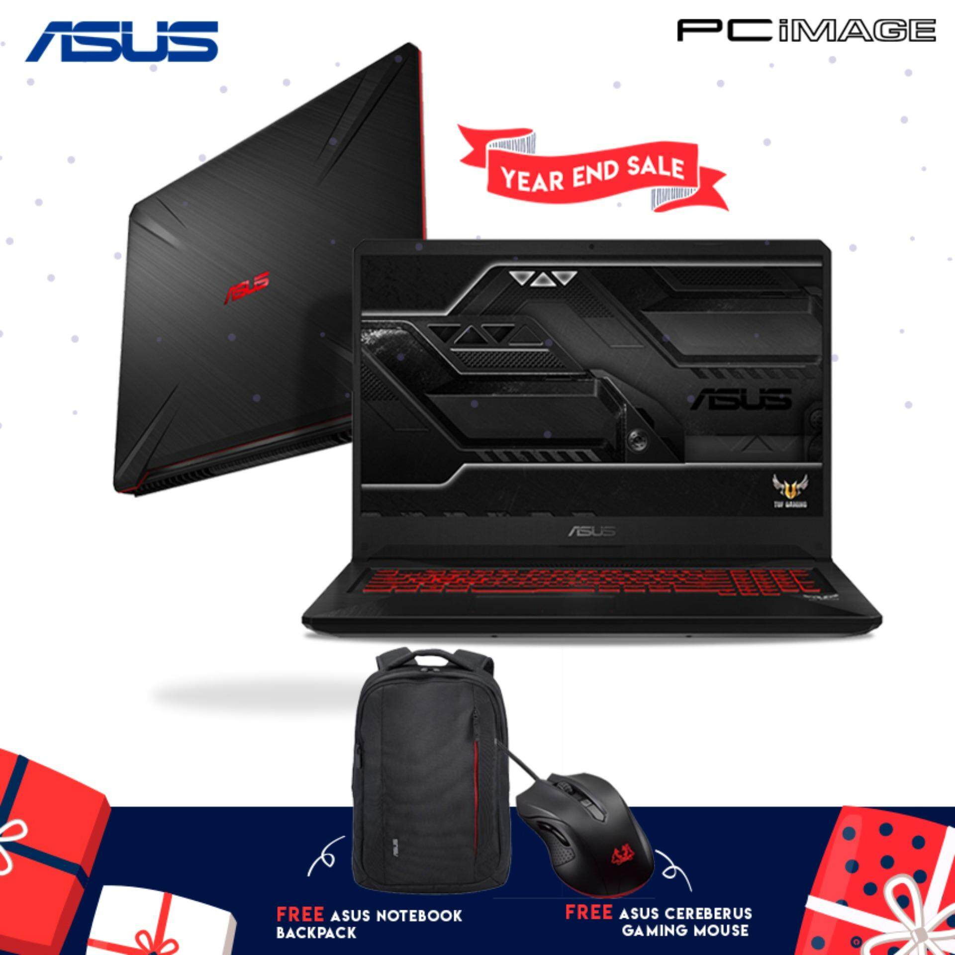 ASUS TUF FX705G-EEW164T 17.3 Gaming Notebook-Black (i7-8750H, 8GB, 1TB+128GB, Gtx1050Ti, Win10) Malaysia