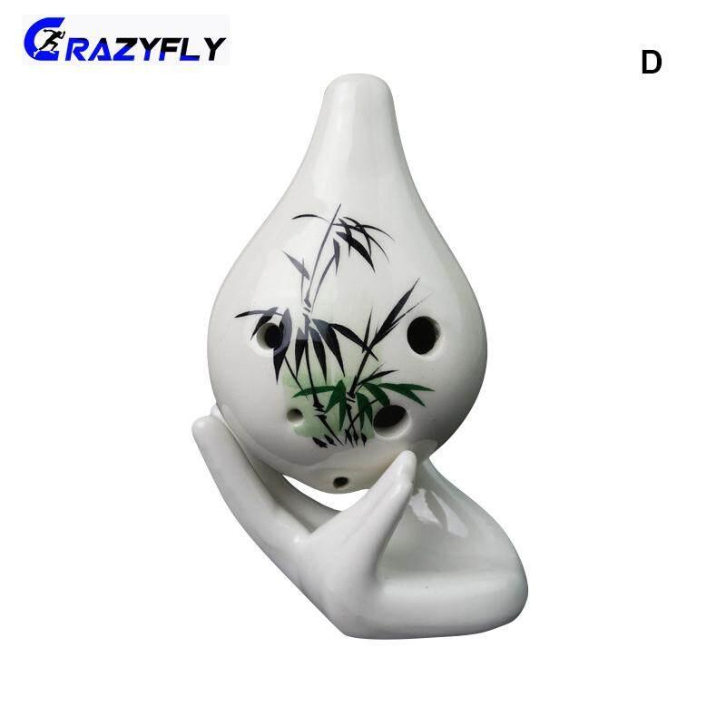 Crazyfly Ocarina 6 Holes Short Mouth Ceramic C Key Musical Instrument Professional For Beginner