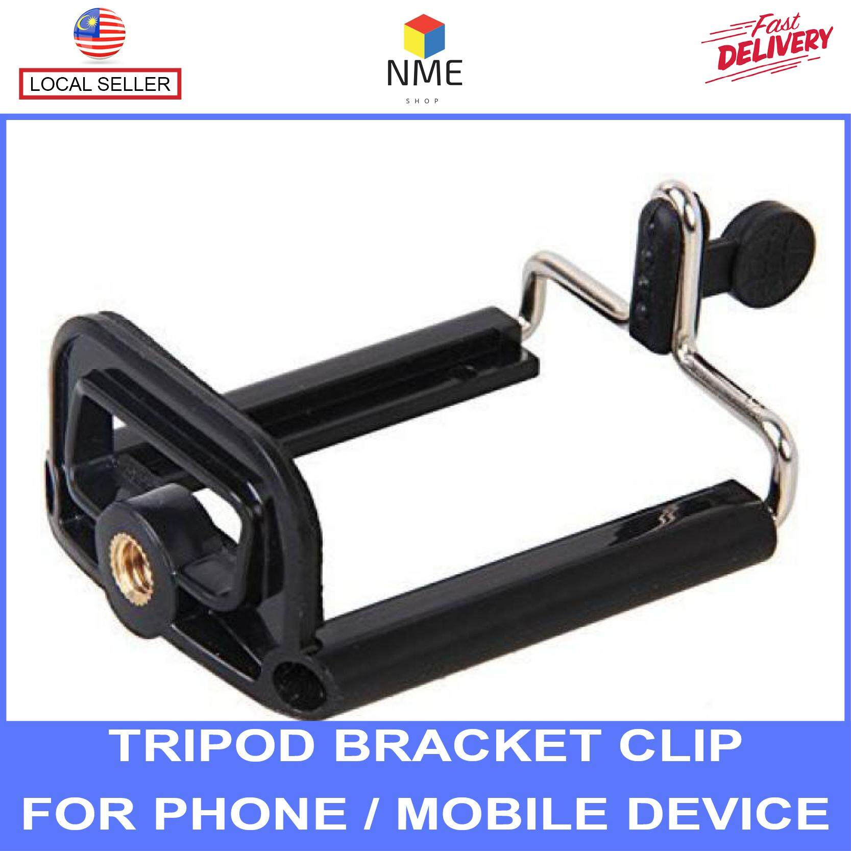 Tripod and Monopod Bracket Clip Holder Mount For Phone / Smartphone / Mobile device