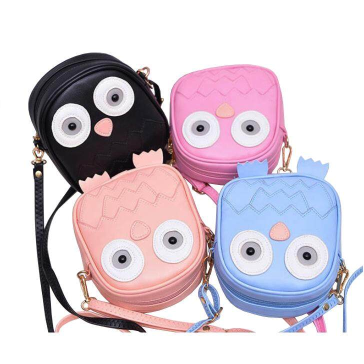 Ready Stock Cutie Small Owl Sling Bag Handbag Bags School Cute Pu Beg By Klikzone.