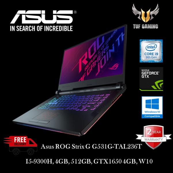 Asus ROG Strix G G531G-TAL236T 15.6 FHD IPS 120Hz Gaming Laptop ( I5-9300H, 4GB, 512GB, GTX1650 4GB, W10 ) Malaysia