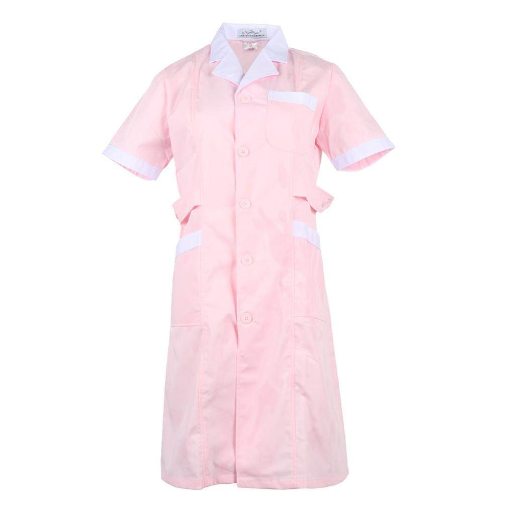 Fenteer Women Lab Coat Medical Uniforms Scrubs Medical Science Chemistry Jackets