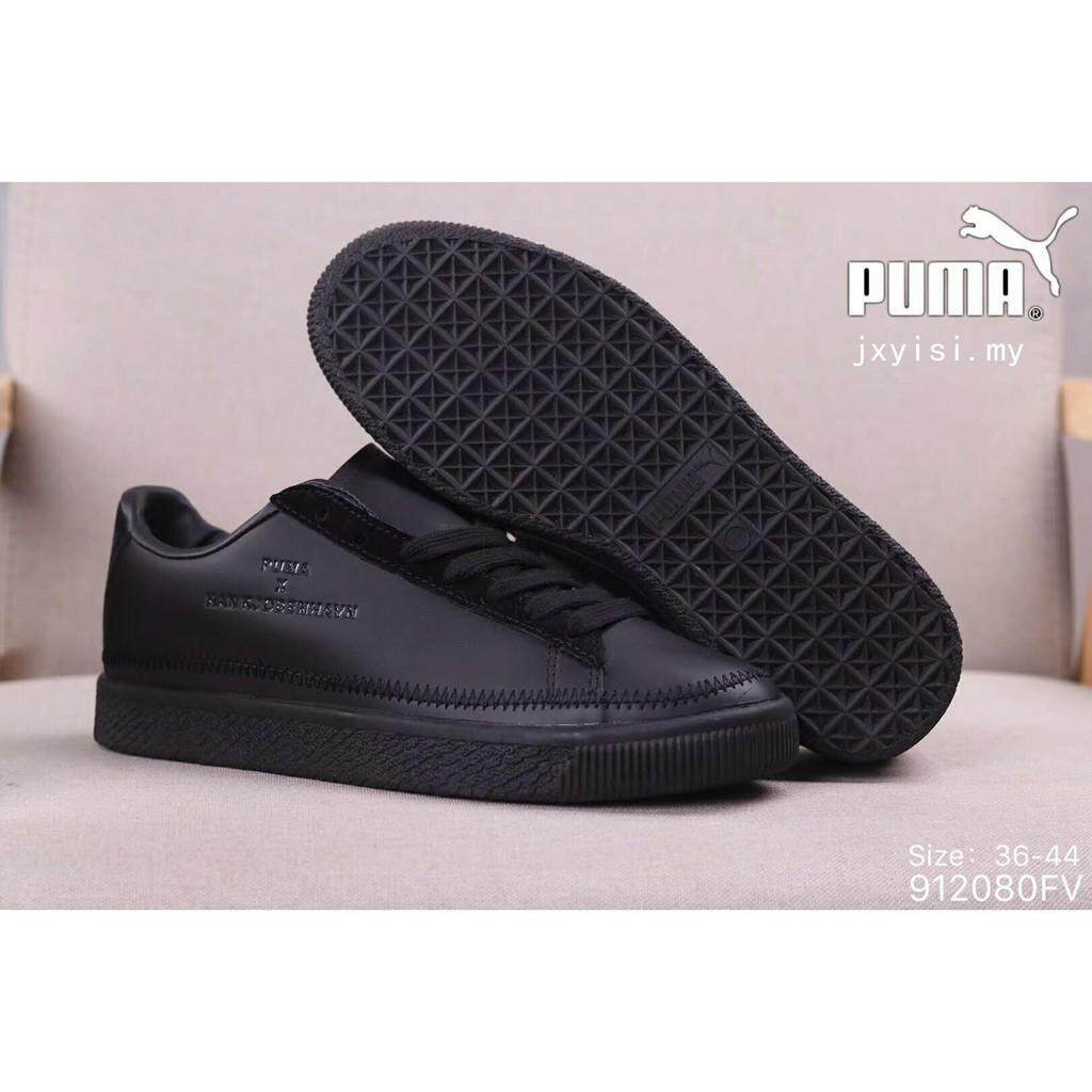 100%☆Asli Pria Hitam Sneakers PUMA CLYDE Dijahit Han Kjobenhavn Sepatu  Wanita d2d78a29cb