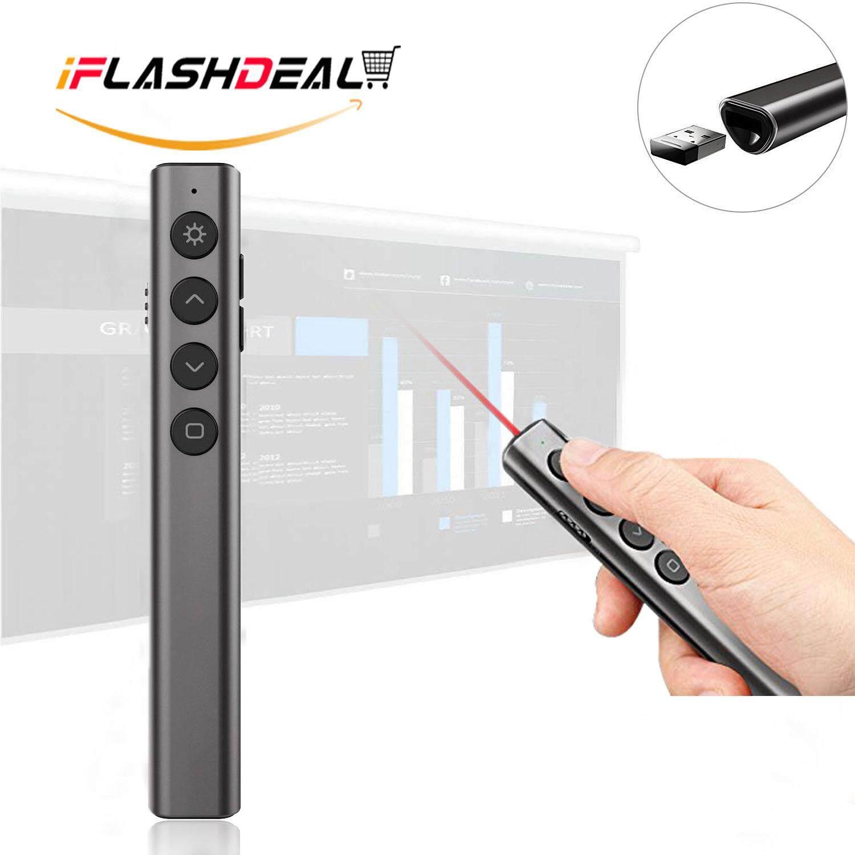 Iflashdeal Laser Pointer Presentation Usb Wireless Presenter Flip Pen 2.4ghz Powerpoint Ppt Clicker Remote Controller By Iflashdeal.