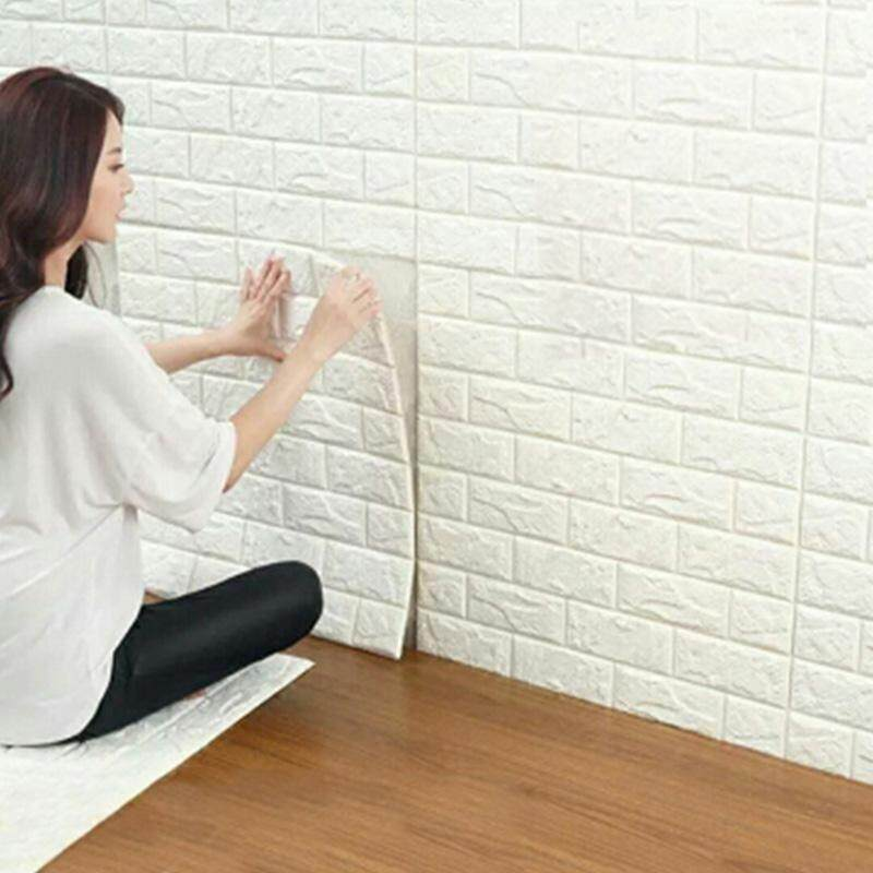 70x77cm PE Foam 3D Wall Stickers Safety Home Decor Wallpaper DIY Wall Decor Brick Living Room Kids Bedroom Decorative Sticker