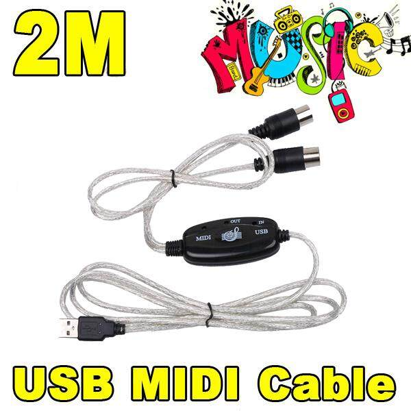 Usb 2.0 To Keyboard Midi Interface Adapter Cable 2m For Ps2 Cubase Cakewalk Computer Xp 7 8 Mac Cakewalk Studio Cable By Kobeton Technology.