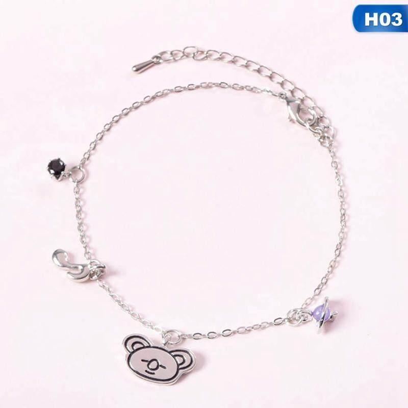 Bloomhd Kpop Bts Bangtan Boys Titanium Steel Jewelry Silver Bracelet By Bloomhd.