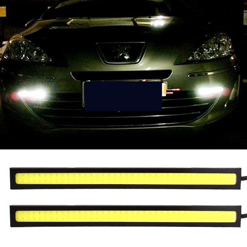 MHStore 1 PAIR LED Car Daytime Running Light DRL Daylight Lamp with Turn Lights day running