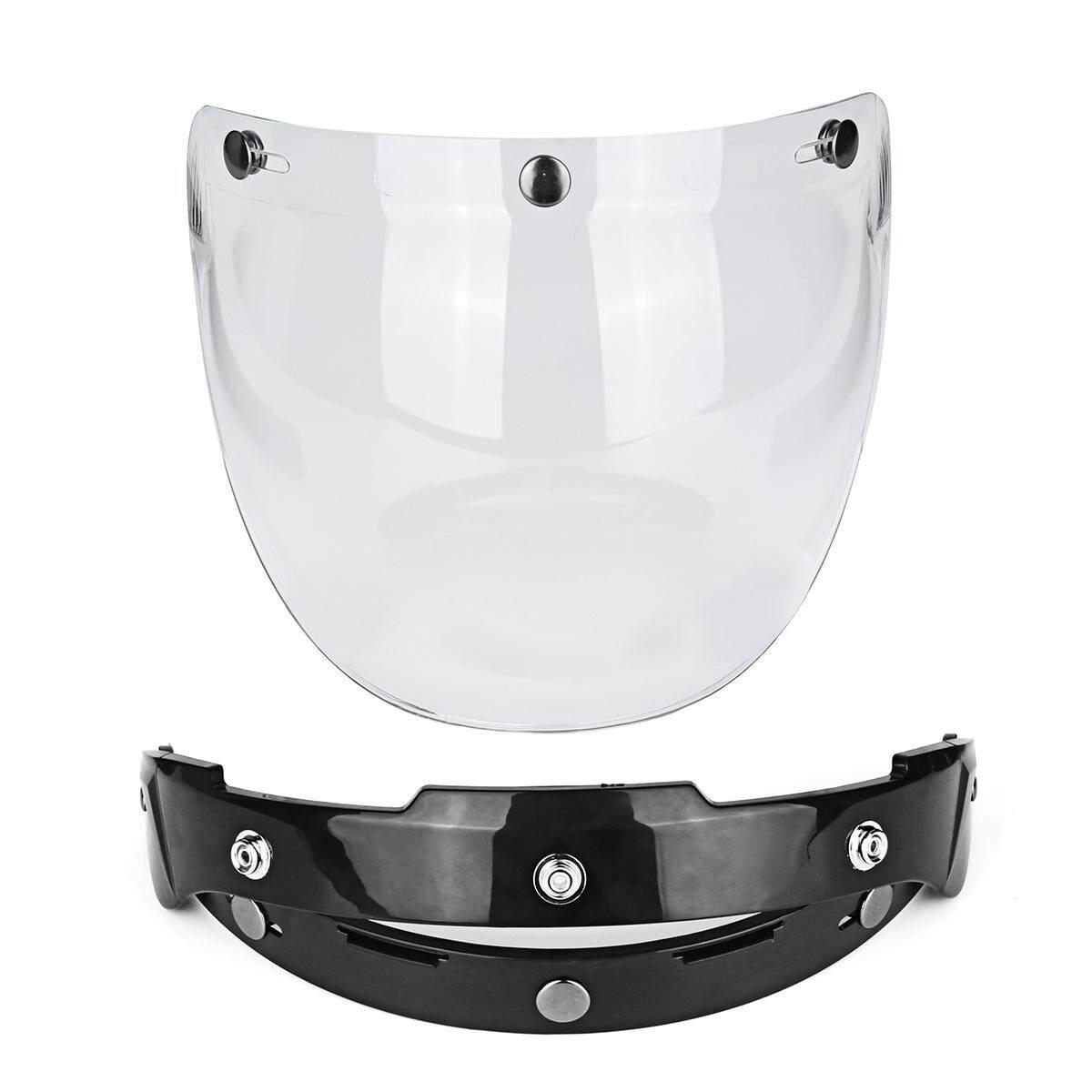 1 Set 3-Kaca Mata Snapchat Motor Helm Visor Gelembung Lensa Tahan Angin Retro Sepeda
