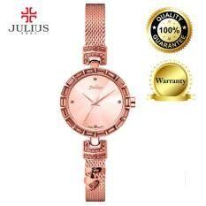 Authentic Korea Julius JA-723 Women Fashion Rhinestone Quartz Watch RedMYR132. MYR 134