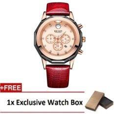 (100% Authentic) MEGIR 2042 Luxury Brand Woman Watches Chronograph Fashion Leather Wrist Malaysia