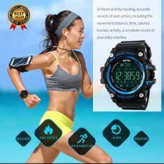 [100% Genuine] SKMEI Men Smart Watch Pedometer Calories Chronograph Fashion Sport Watches Chronograph 50M Waterproof Digital Wristwatches 1227 - Intl ...