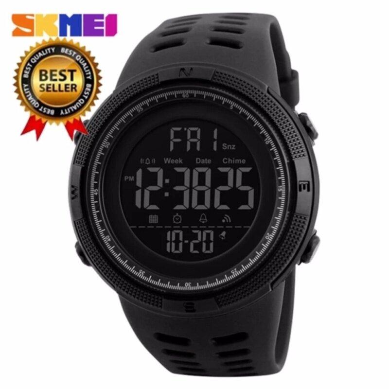 [100% Genuine]SKMEI New mens sports watch chronograph alarm clock digital watch 50M waterproof dual time countdown stopwatch 1251 Malaysia