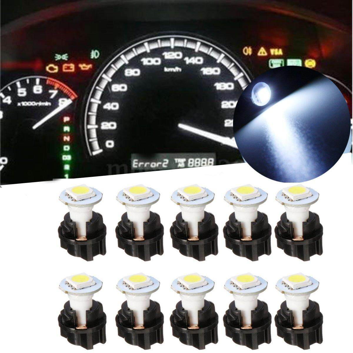 Buy Sell Cheapest Mhs 10 Pc74 Best Quality Product Deals Lampu Led Speedometer T5 Putih Pcs Memutar Soket Panel Instrumen Cluster Dash Ringan Bohlam