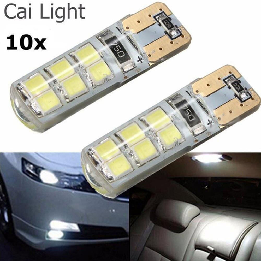 Buy Sell Cheapest 10x T10 194 Best Quality Product Deals Lampu Led Cob Silica Silokon Super Terang W5w 2835 Smd 12led Mobil Canbus Cerah Bola Berlisensi