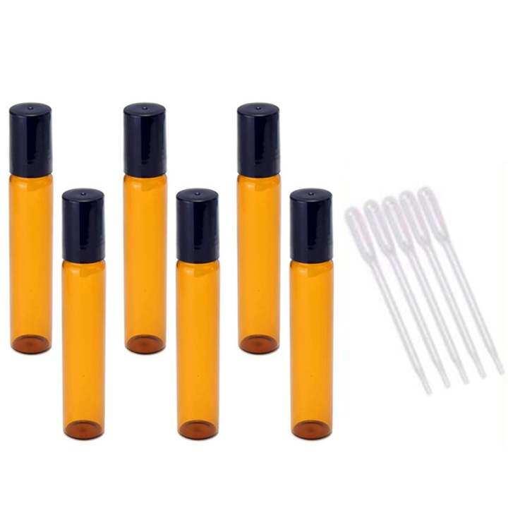 12 Pcs 10ml Empty Dark Brown Glass Aromatherapy Perfume