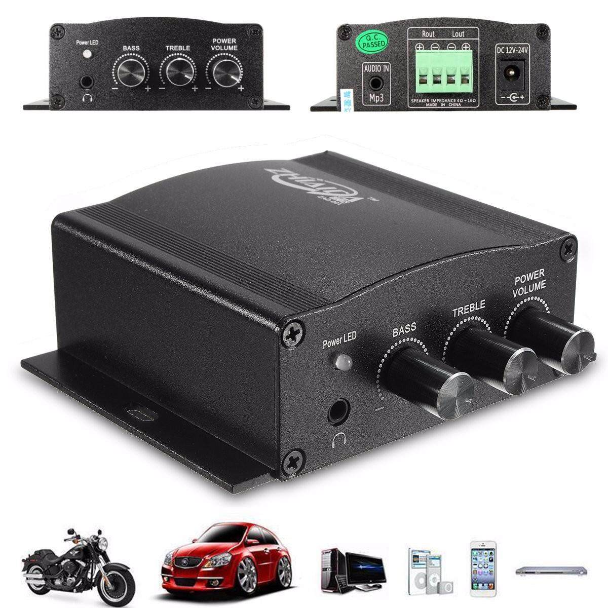 Car Amplifier For Sale Audio Online Brands Prices Subwoofer Vx 12 Bd 12v 30w Mini Hifi Stereo Amp Booster Bass Mp3 Ipod Motorcycle Home Intl