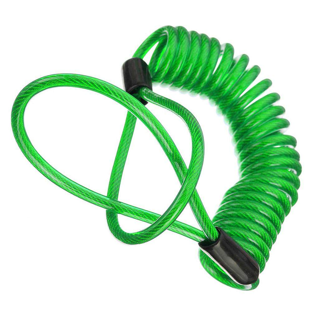 150cm Alarm Disc Security Lock Anti Thief Bag Motorcycle Wheels Disc Brake And Spring Reminder Green Cable - intl