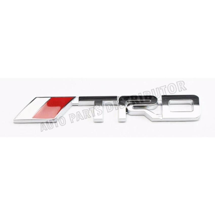 15cm x 2.5cm TRD OEM Logo Emblem 3D Chrome Toyota Car Decor (HIGH QUALITY)