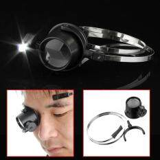 15x Led Magnifier Hands-Free Eye Loupe JEWELRY Repair Wrap Around Head Band Malaysia